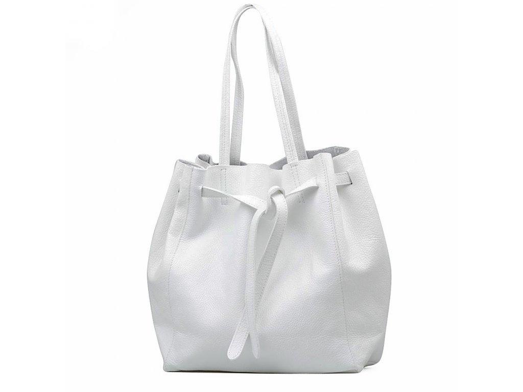 Kožená kabelka Blanda bílá