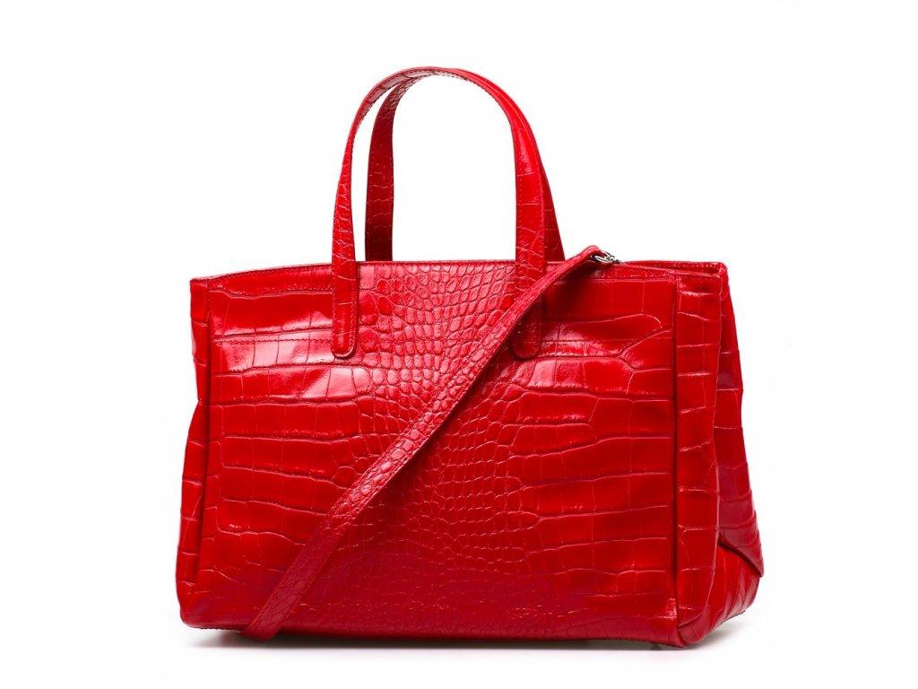 Kožená kabelka Natalia červená