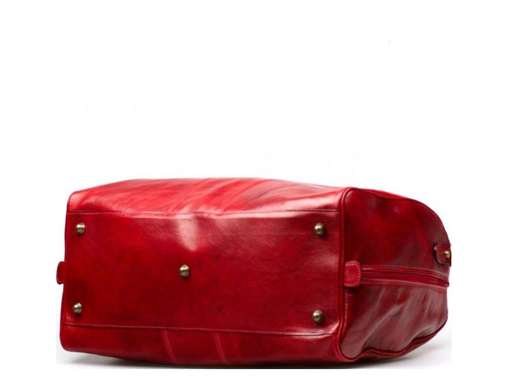 Kožená cestovní taška Josslyn červená