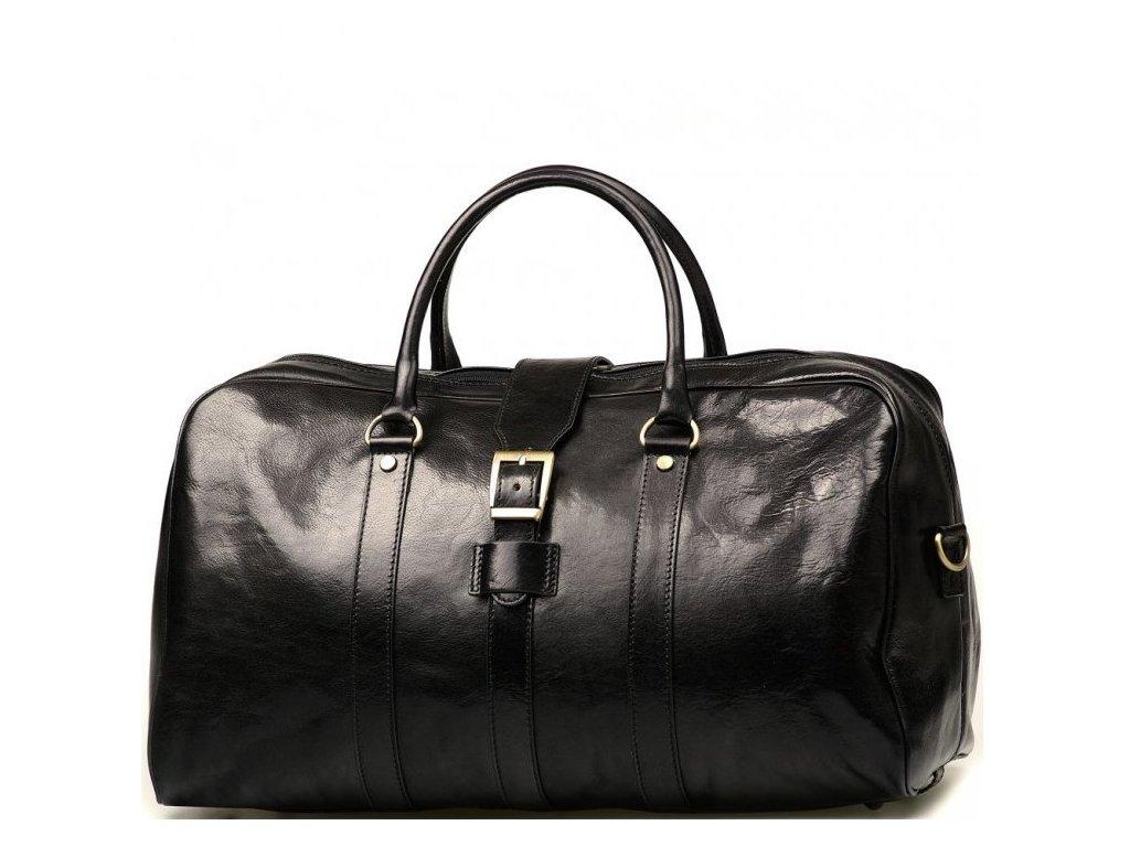 Kožená cestovní taška Modena černá