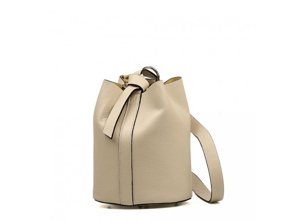 Kožená kabelka Juliette béžová