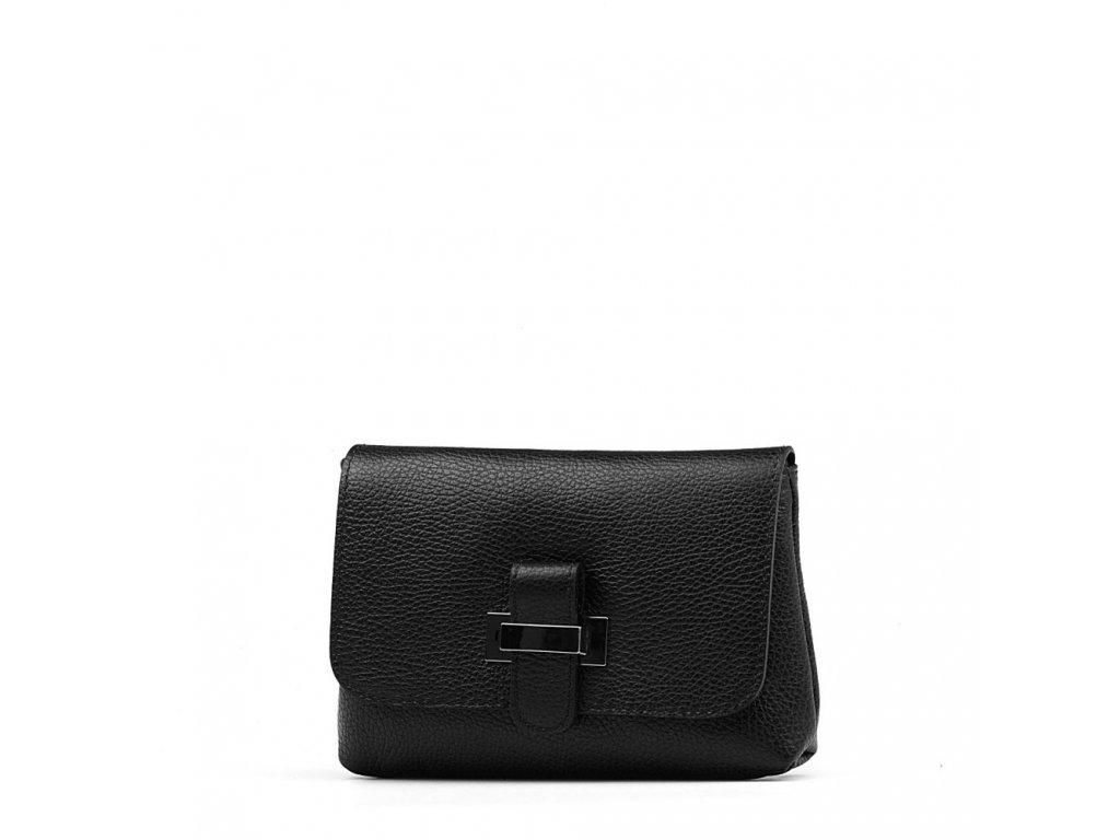 Kožená kabelka Ofra černá