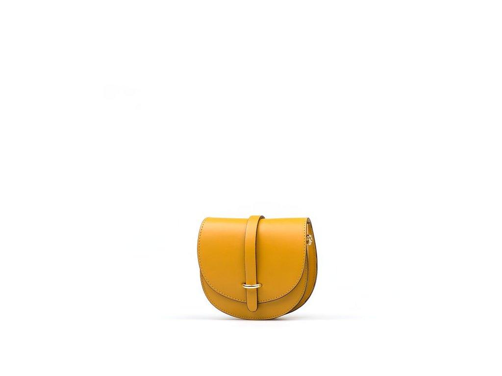 Kožená kabelka Gerda hořčicově žlutá