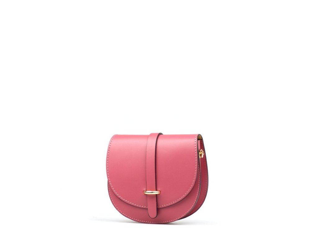 Kožená kabelka Gerda růžová