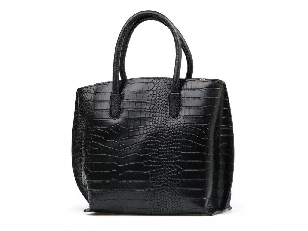 Kožená kabelka Caren černá