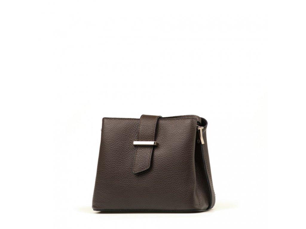 Kožená kabelka Margo tmavě hnědá