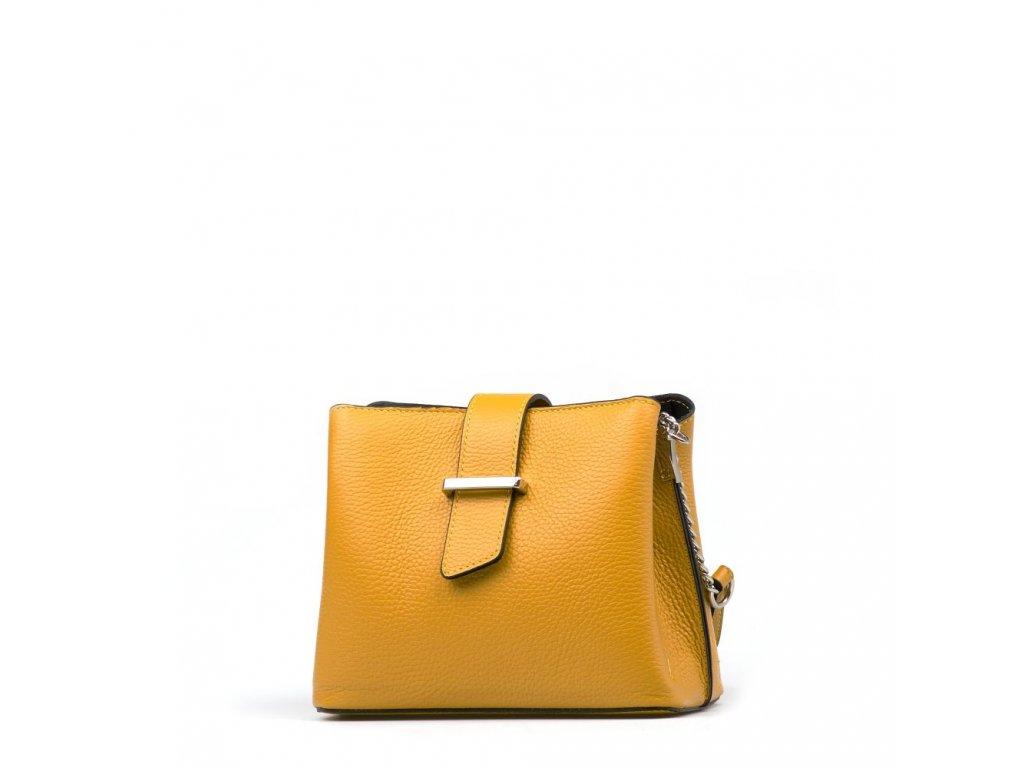 Kožená kabelka Margo hořčicově žlutá