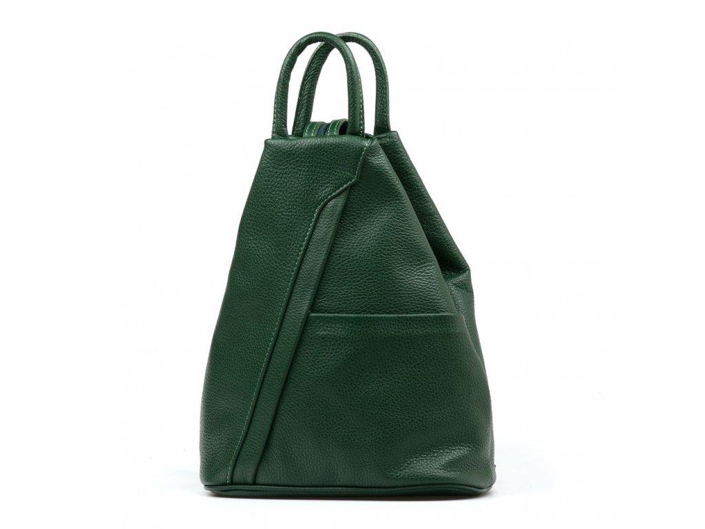 Kožený batůžek Sammy zelený