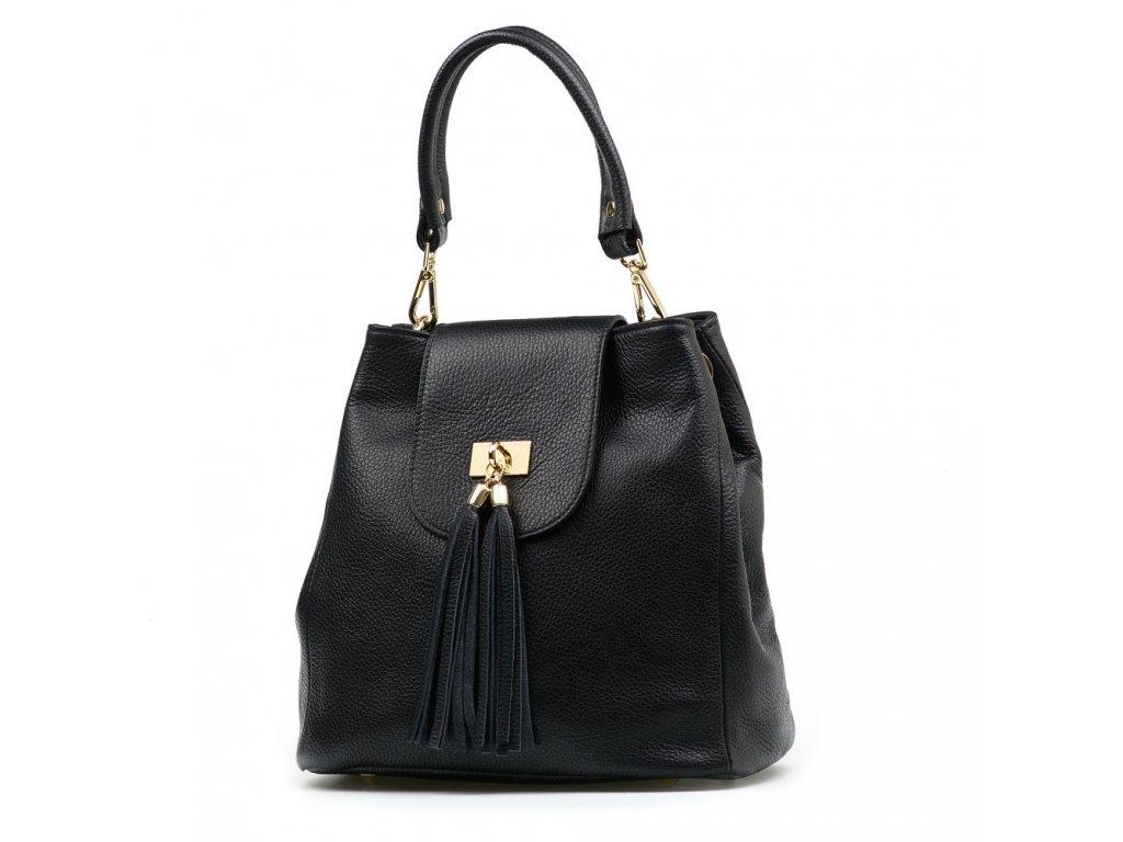 Kožená kabelka Sergia černá