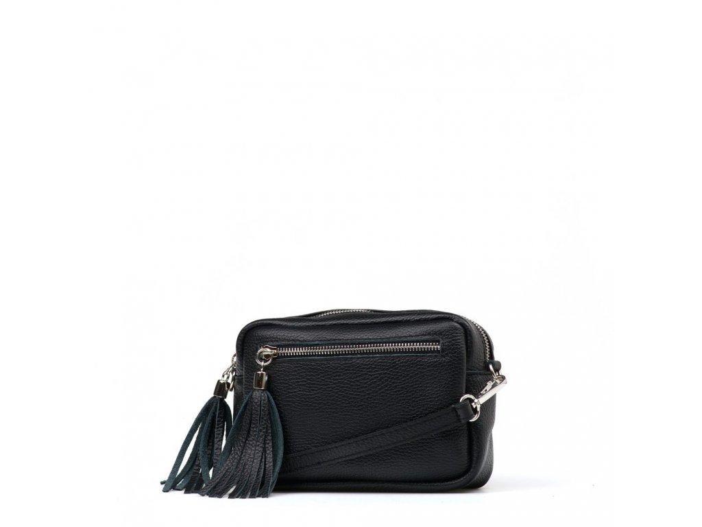 Kožená crossbody kabelka Gina černá