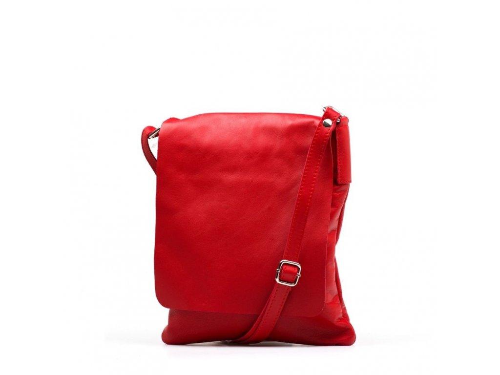 Kožená crossbody kabelka Lucia červená