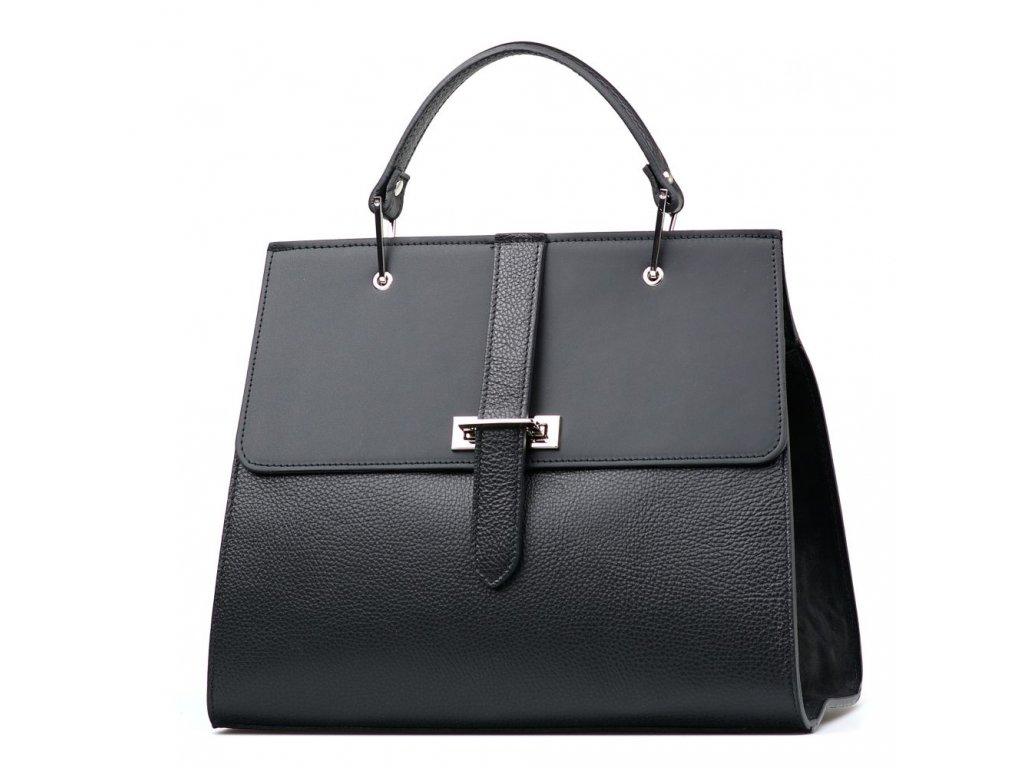 Kožená kabelka Belia černá