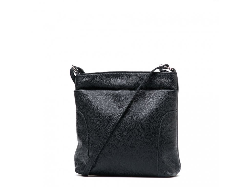 Kožená crossbody kabelka Zora černá