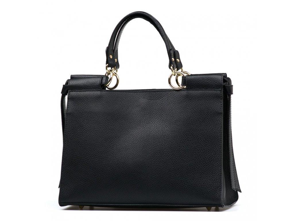 Kožená kabelka Fatin černá