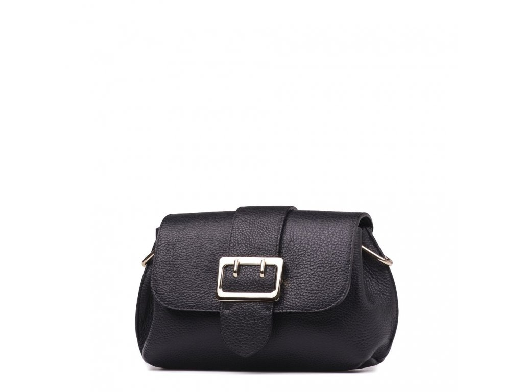 Kožená kabelka Maite černá