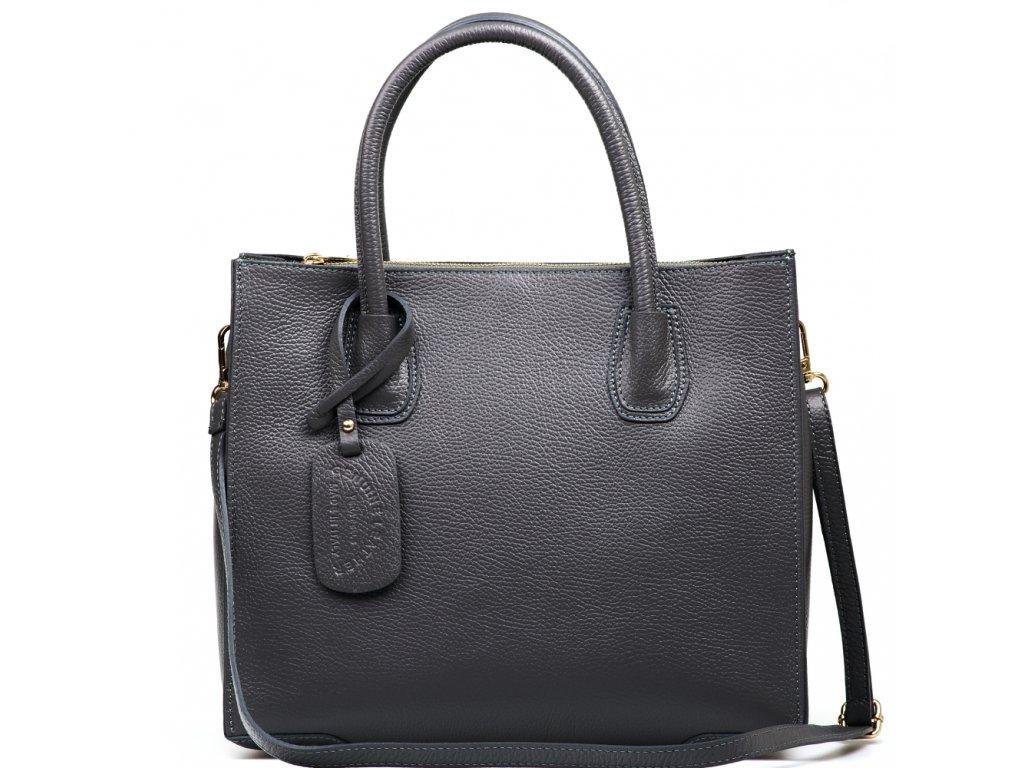 Kožená kabelka Delma šedá