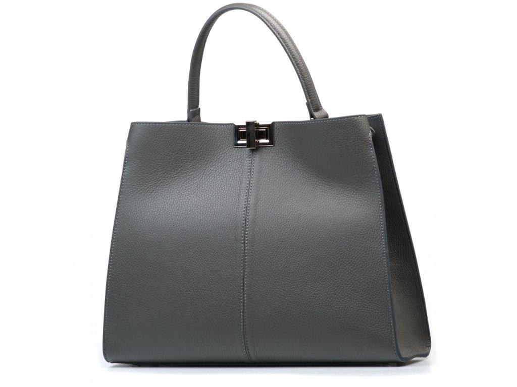 Kožená kabelka Moos šedá