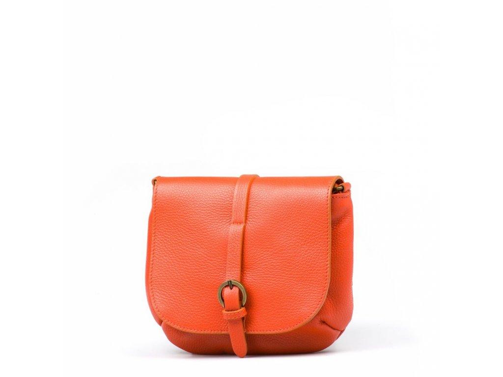Kožená crossbody kabelka Liss oranžová