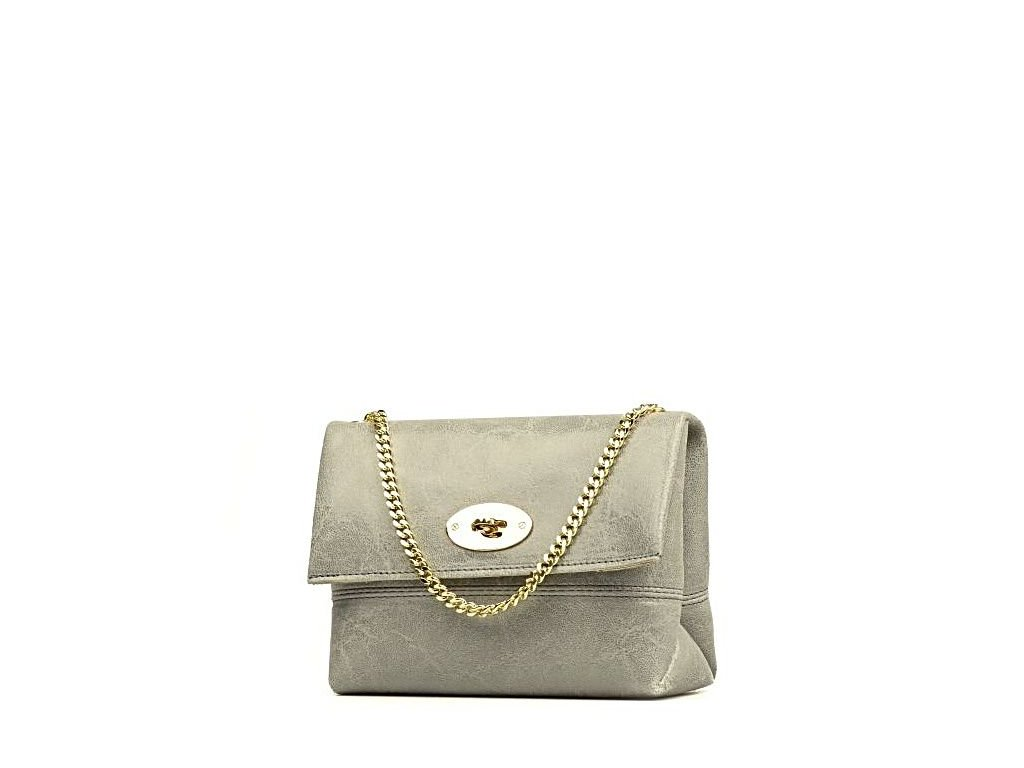 Kožená kabelka Victoria šedá