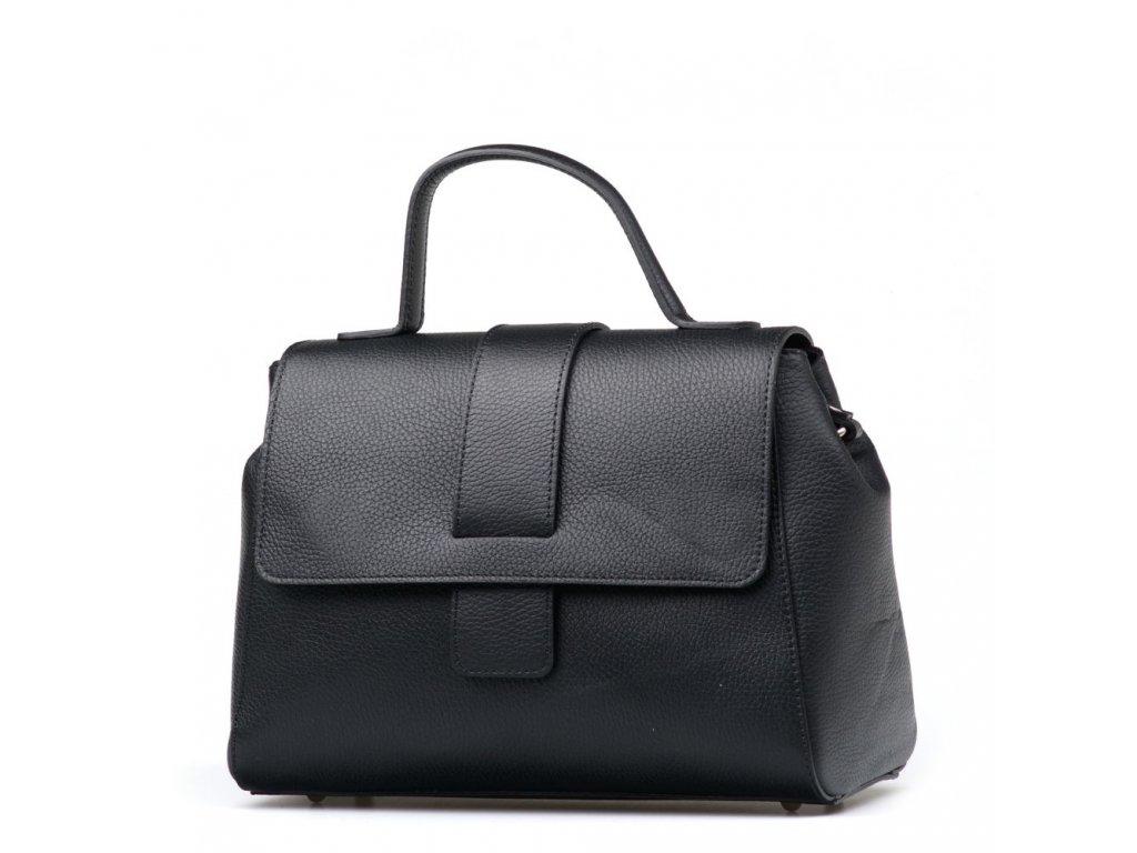 Kožená kabelka Laia černá