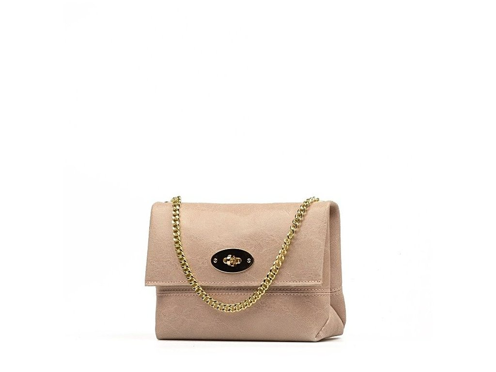 Kožená kabelka Victoria růžová - Blaire shop a8043e0ce8