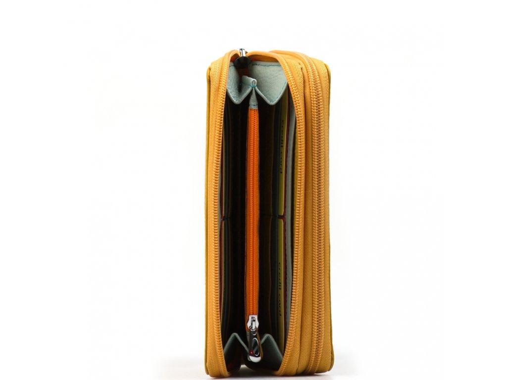 Kožená peněženka Carla žlutá