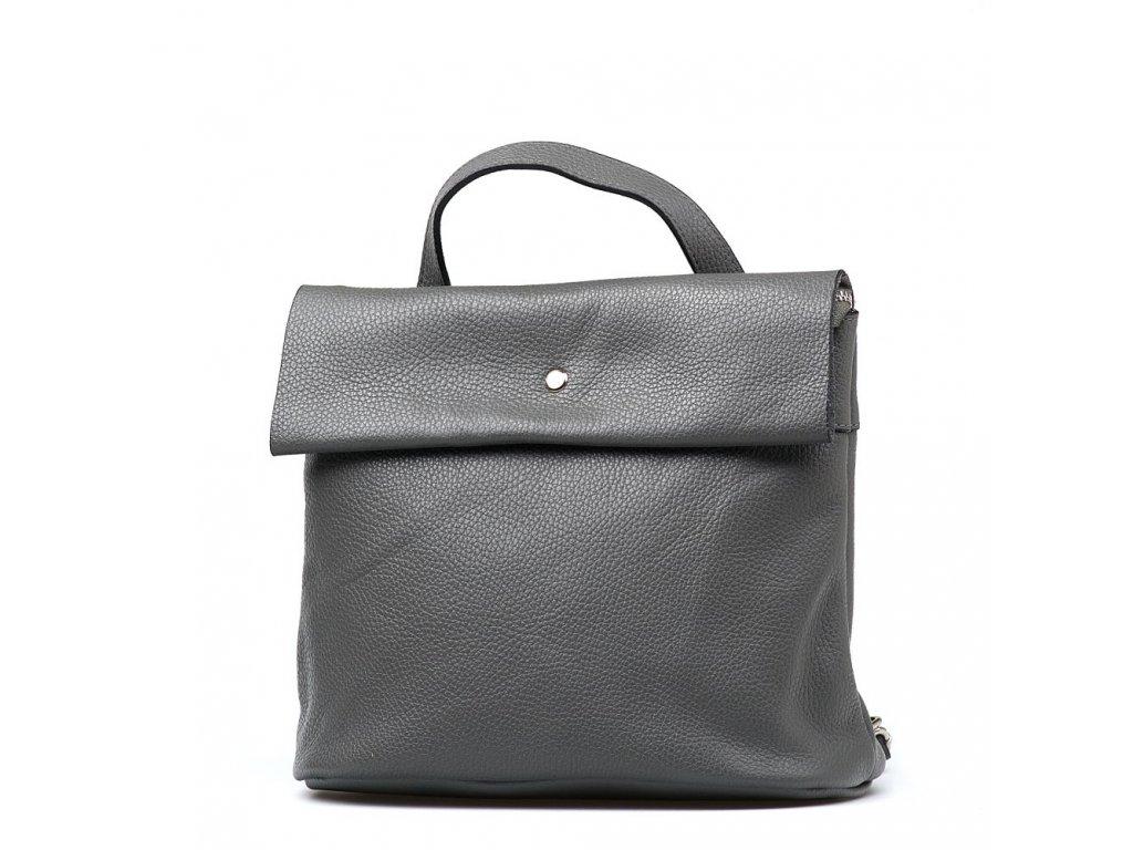 Kožený batůžek Veria šedý