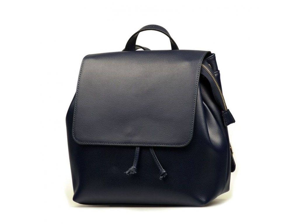 Kožený batůžek Gery tmavě modrý