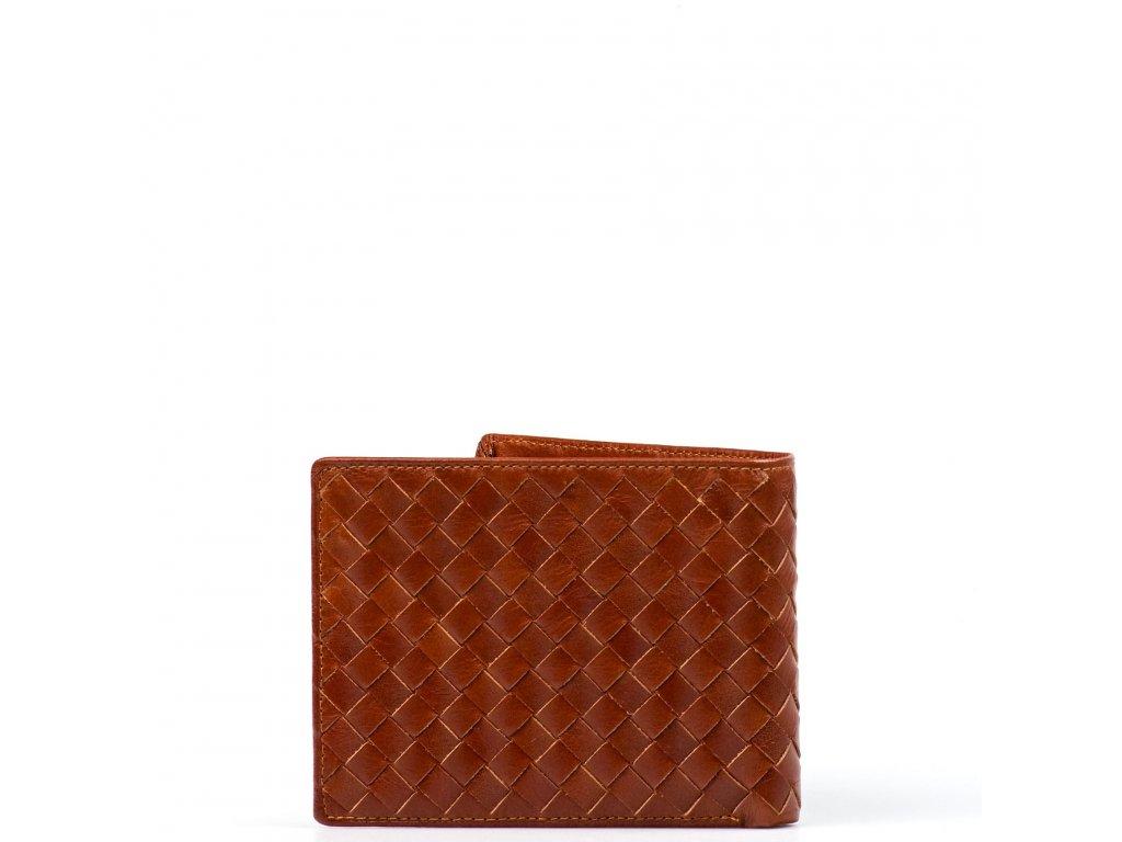 Pánská kožená peněženka Tita koňakově hnědá