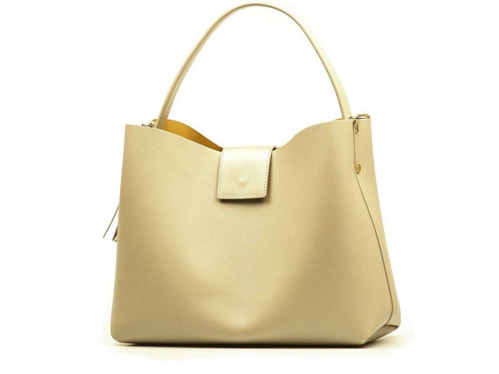 Kožená kabelka Vanesa béžová - Blaire shop 96e2a3bef96