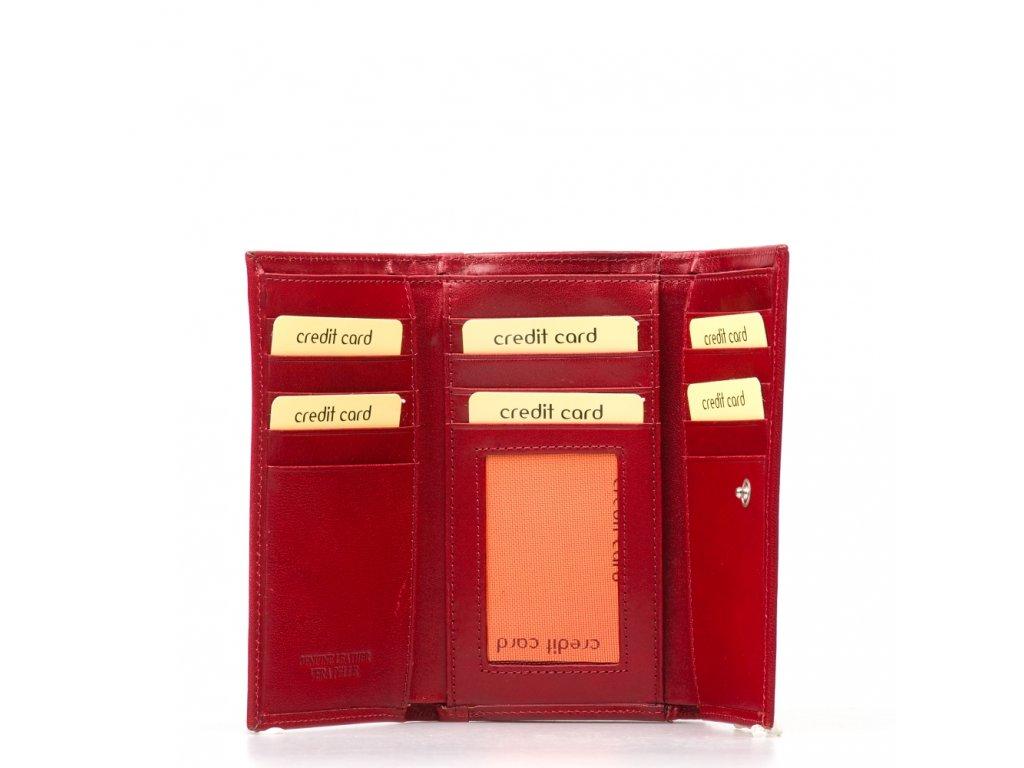 Dámská kožená peněženka Luca červená
