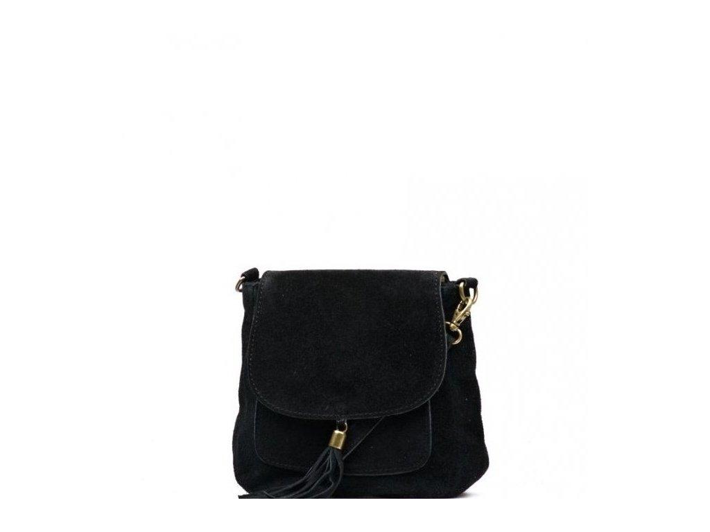 Kožená kabelka Lanira černá