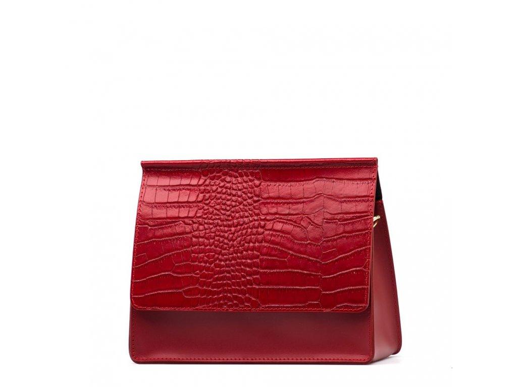 Kožená kabelka Alisia vínově červená