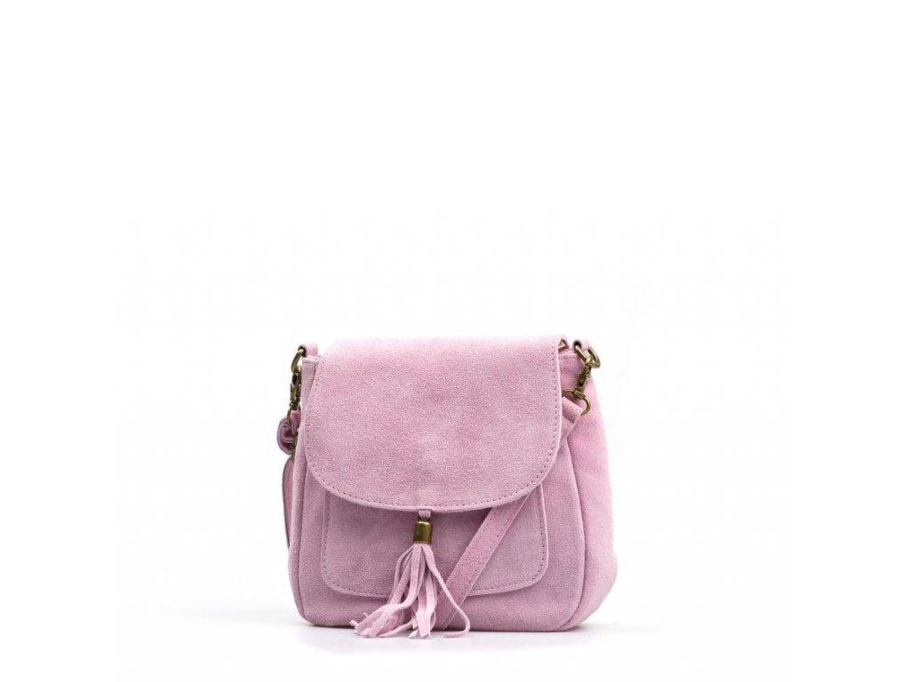 Kožená kabelka Lanira růžová
