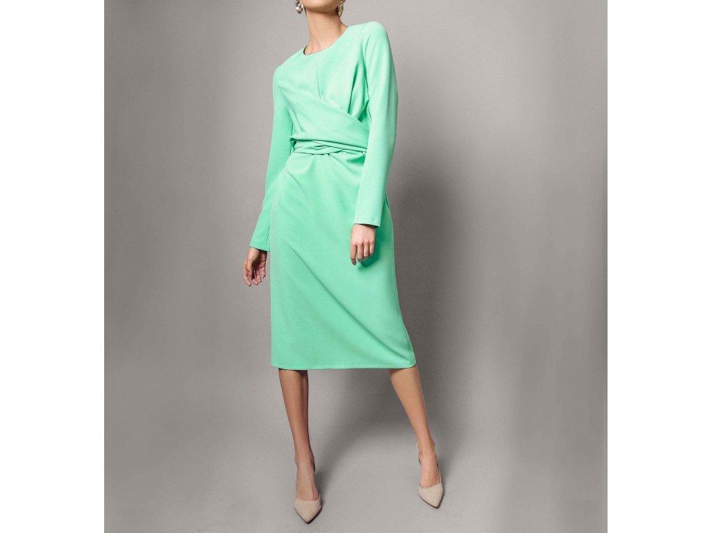 Šaty s pásy tiffany modrá Atelier Flannel