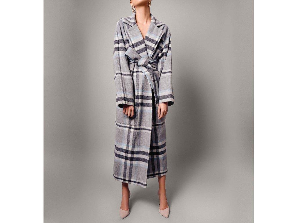 Kabát kostkovaný šedý Atelier Flannel