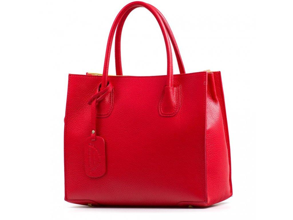 Kožená kabelka Delma červená