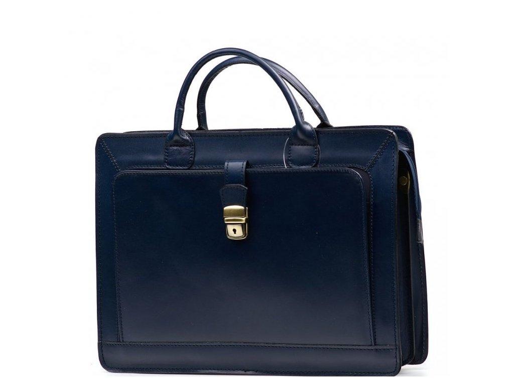 Pánská kožená pracovní taška Firenze modrá