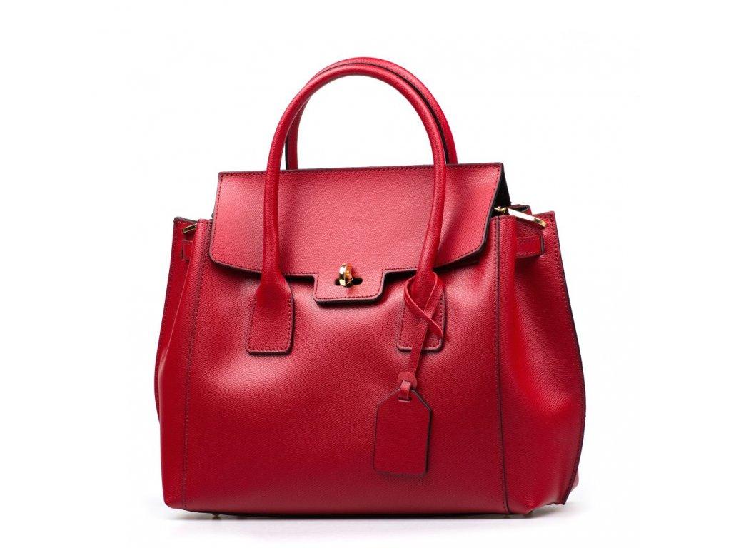 Kožená kabelka Prisca červená