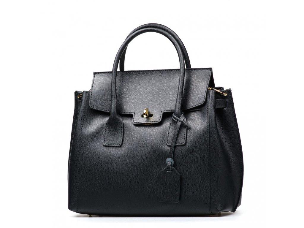 Kožená kabelka Prisca černá