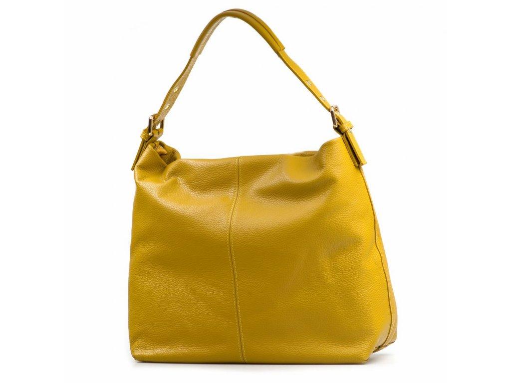 Kožená kabelka Felisa hořčicově žlutá