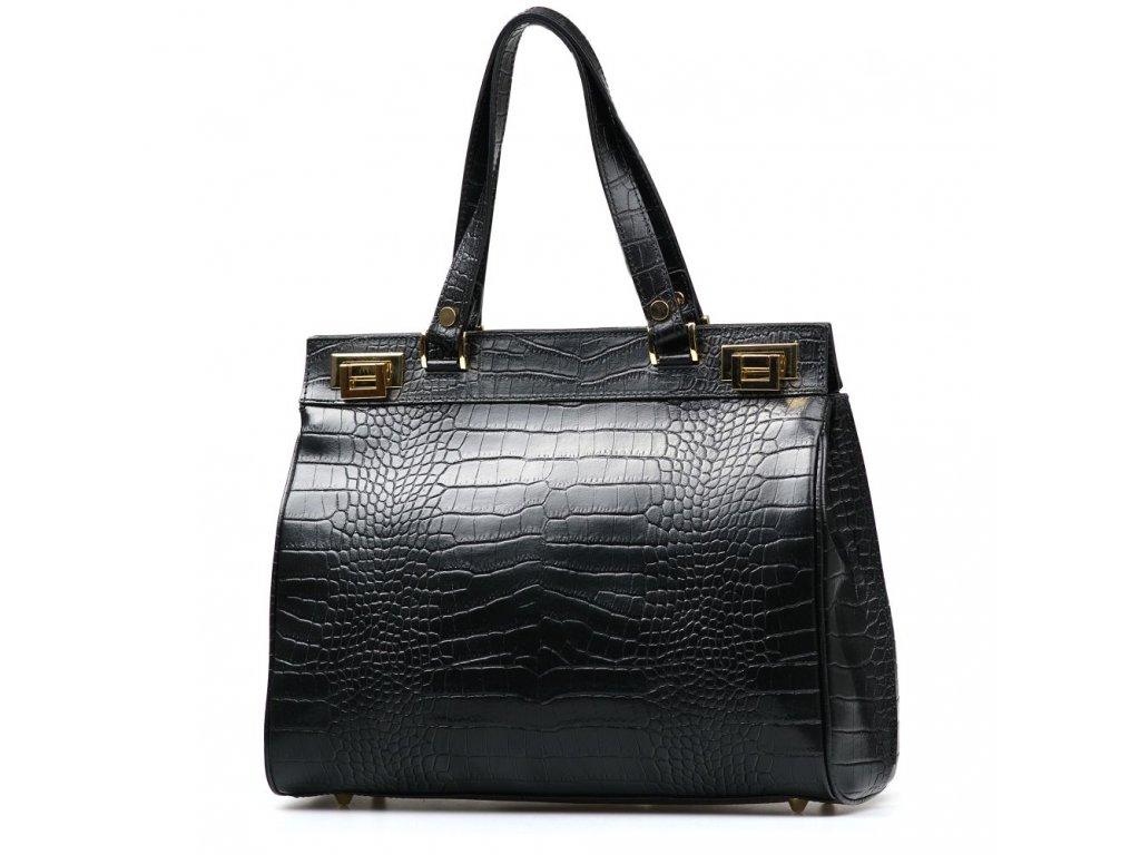 Kožená kabelka Babila černá