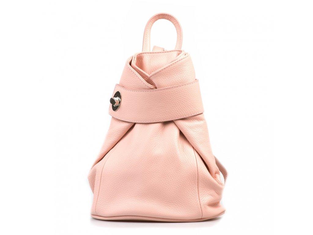 Kožený batůžek Joss růžový