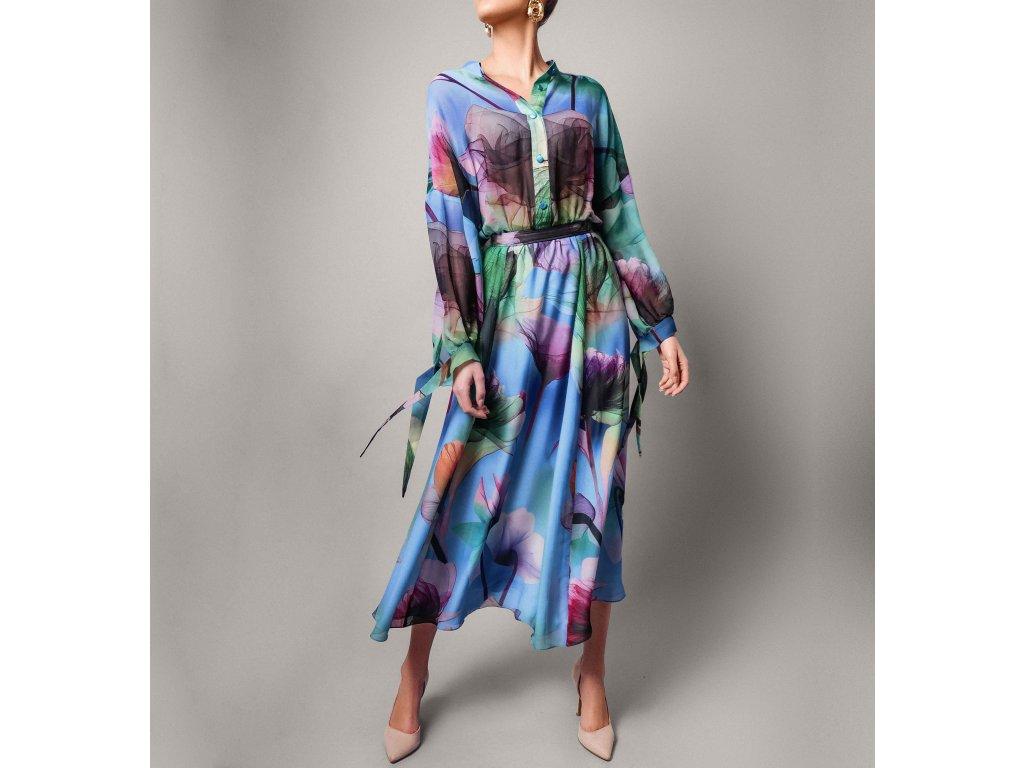 Šaty s potiskem kytek multibarevné Atelier Flannel