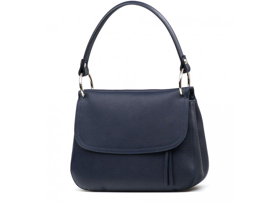 Kožená kabelka Federica modrá