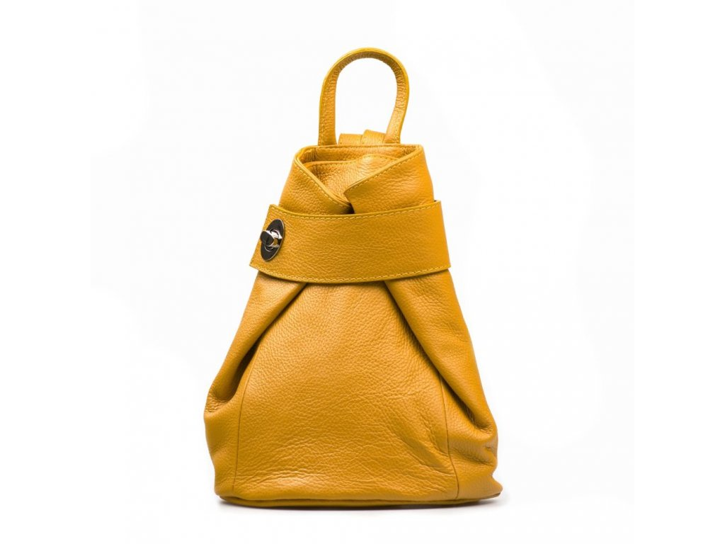 Kožený batůžek Joss hořčicově žlutý