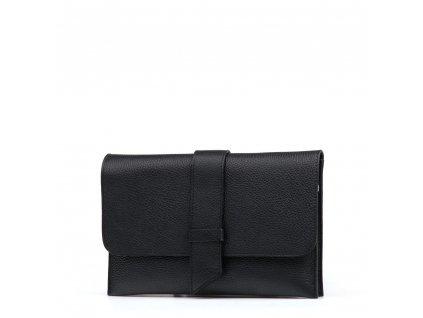 Kožené psaníčko - kabelka Arianna černá