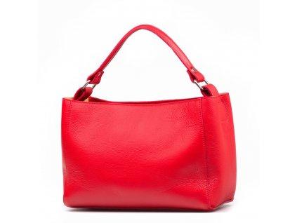 Kožená kabelka Laura červená