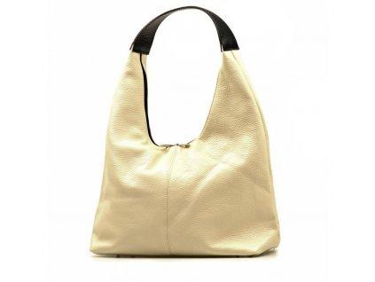 Kožená kabelka Sondra béžová