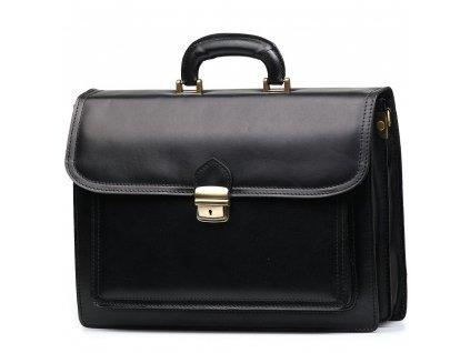 Kožená pracovní taška Giorgia černá